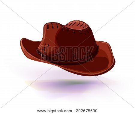 cowboy hat vector illustration. Masquerade or carnival costume headdress
