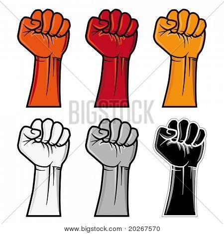 vector clenched fist emblem