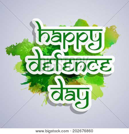 illustration of happy Defence Day text on the occasion of Pakistan defence day