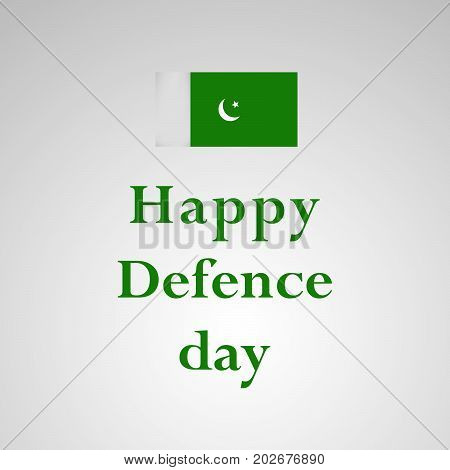 illustration of Pakistan flag with Happy defence Day text on the occasion of Pakistan defence day