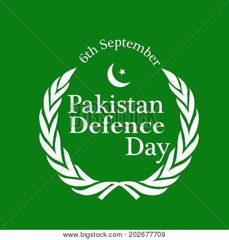 illustration of Pakistan defence Day 6th September text on the occasion of Pakistan defence day