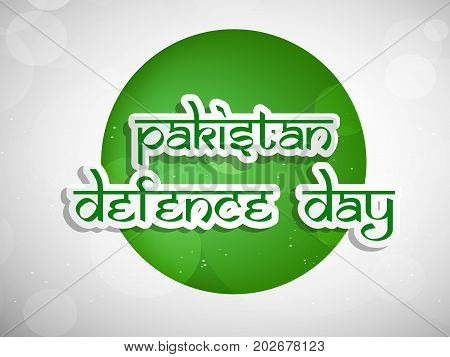 illustration Pakistan defence Day text on web button background on the occasion of Pakistan defence day