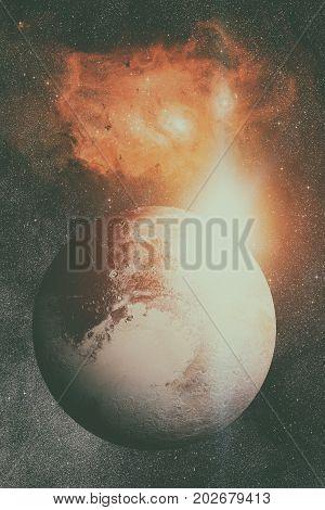 Solar System - Pluto. It Is A Dwarf Planet In The Kuiper Belt.