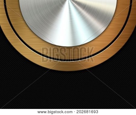 Abstract metallic texture background with gold and silver metal