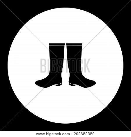 Two Galosh Simple Silhouette Black Icon Eps10