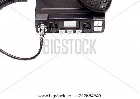 cb Radio transmitter isolated on white background.