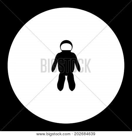 Spacesuit For Astronaut Simple Silhouette Black Icon Eps10