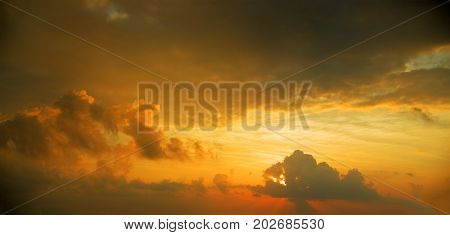 sunset / sunrise with strong color clouds  and other atmospheric effects