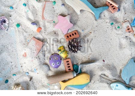 Sandbox. Sand Therapy. The Work Of A Psychologist. Psychological Help. Systemic Therapy