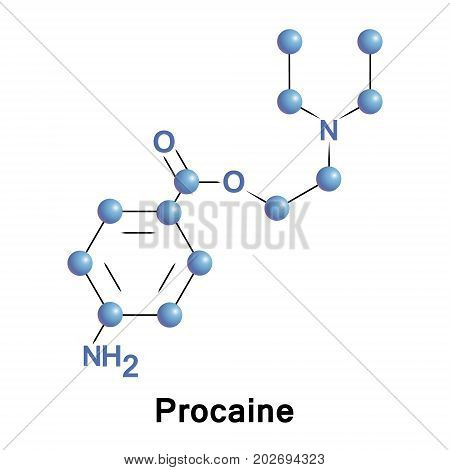 Procaine is a local anesthetic drug of the amino ester group. It is used primarily to reduce the pain of intramuscular injection of penicillin and it is also used in dentistry