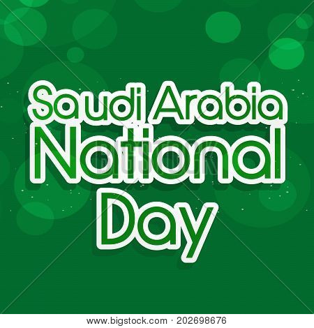 illustration of Saudi Arabia National Day text on the occasion of Saudi Arabia National Day