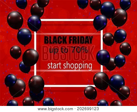Black Friday. Postcard, flyer or invitation. Sale. The maximum discount Vector illustration