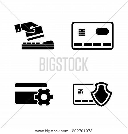 Safe Payment. Simple Related Vector Icons Set for Video, Mobile Apps, Web Sites, Print Projects and Your Design. Black Flat Illustration on White Background.