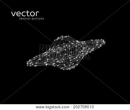 Vector Abstract Illustration Of Aliens Spacecraft.