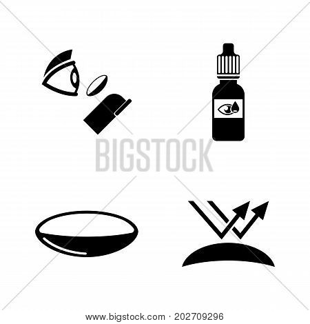 Eye lens. Simple Related Vector Icons Set for Video, Mobile Apps, Web Sites, Print Projects and Your Design. Black Flat Illustration on White Background.