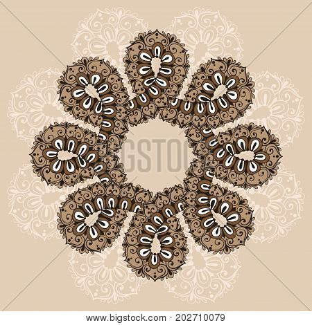 Mandala. Infinity Ornament Template In Doodle Style