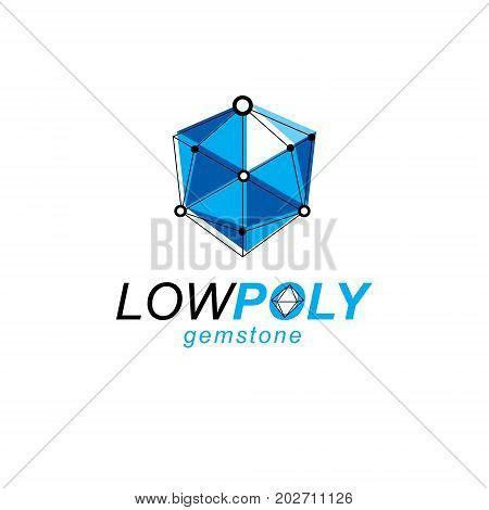 Innovation technologies logo. Vector abstract 3d geometric shape polygonal figure illustration.