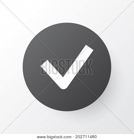 Premium Quality Isolated Done  Element In Trendy Style.  Checkmark Icon Symbol.