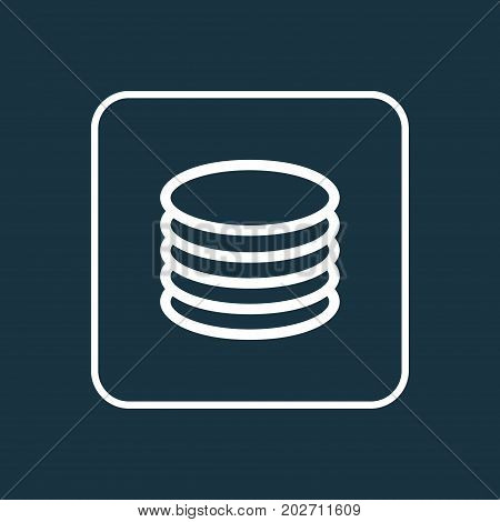 Premium Quality Isolated Database Element In Trendy Style.  Db Outline Symbol.