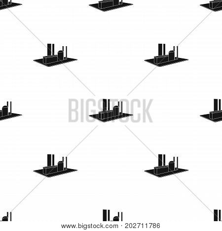 Processing factory. Factory and industry single icon in black style isometric vector symbol stock illustration .