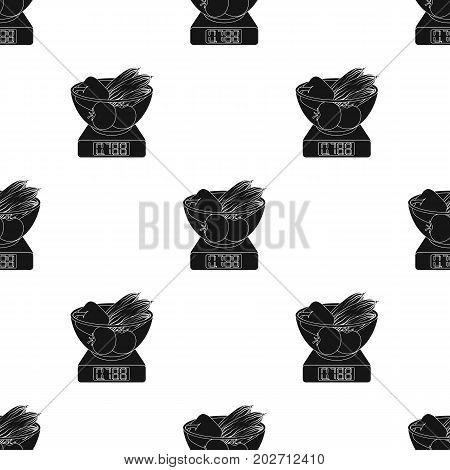 Scales, single icon in black style.Scales, vector symbol stock illustration .