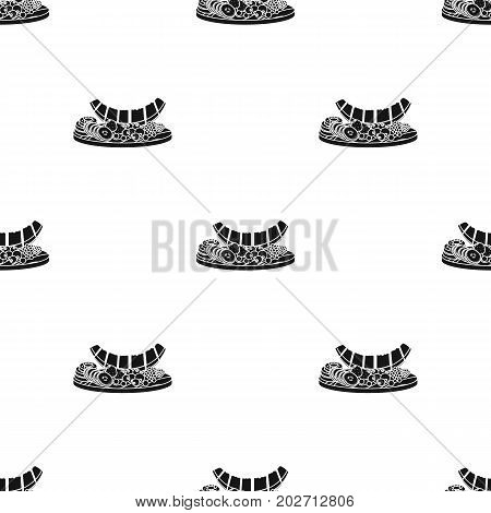 A set of various delicious fruits. Fruit single icon in black style vector symbol stock illustration .