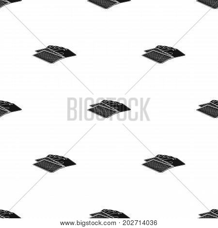 Game single icon in black style.Game, vector symbol stock illustration .