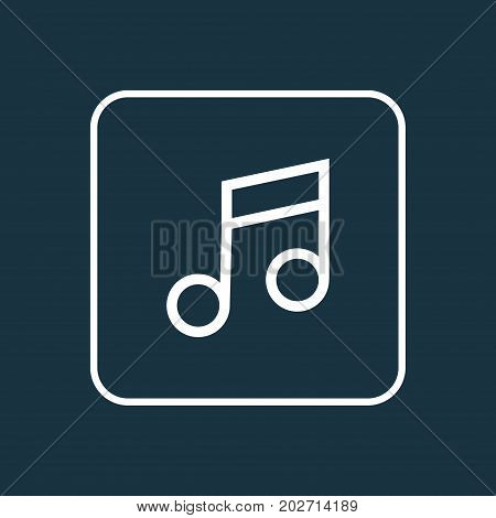 Premium Quality Isolated Musical Note Element In Trendy Style.  Music Outline Symbol.