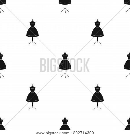 Equipment, mannequin for sewing women's clothing. Sewing and equipment single icon in black style vector symbol stock illustration .