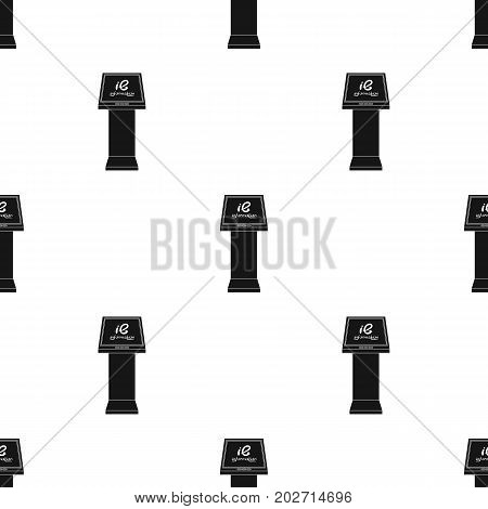 Information terminal. Terminals single icon in black style isometric vector symbol stock illustration .