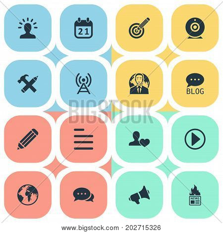 Elements Site, Start, Task And Other Synonyms Audience, Person And User.  Vector Illustration Set Of Simple User Icons.