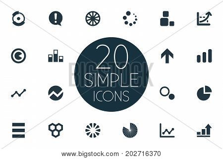 Elements Data, Multiple, Component And Other Synonyms Multiple, Graph And List.  Vector Illustration Set Of Simple Diagram Icons.
