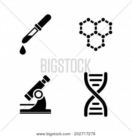 Laboratory. Simple Related Vector Icons Set for Video, Mobile Apps, Web Sites, Print Projects and Your Design. Black Flat Illustration on White Background.