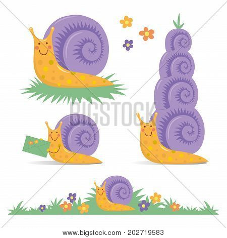 06_cartoon_snail_set