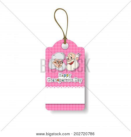 Happy Grandparents Day Shopping Tag Holiday Sale Icon Discount Vector Illustration