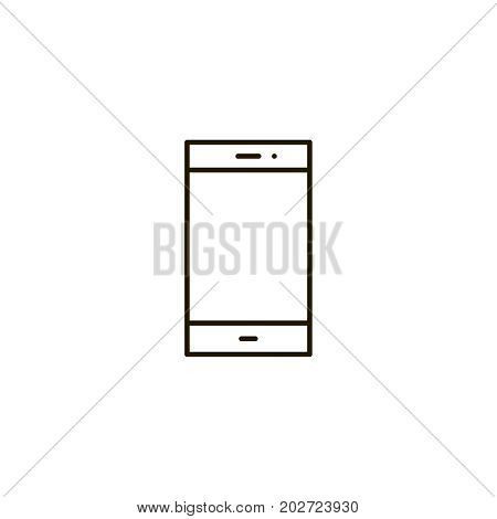 Phone flat icon. Single high quality symbol of line telephone vector for web design or mobile app. Color signs of contact for design logo. Single pictogram of communication on white background