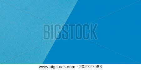 Two tone of light blue and dark blue paper background