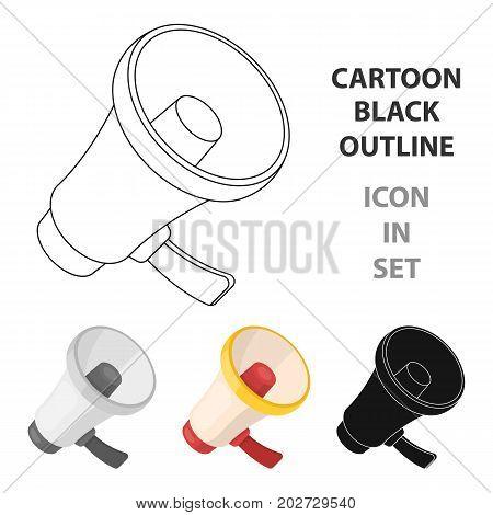 A football fan shout.Fans single icon in cartoon  vector symbol stock illustration.