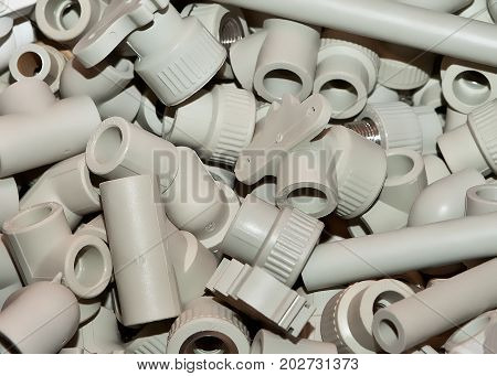 Different polypropylene fittings for domestic water supply