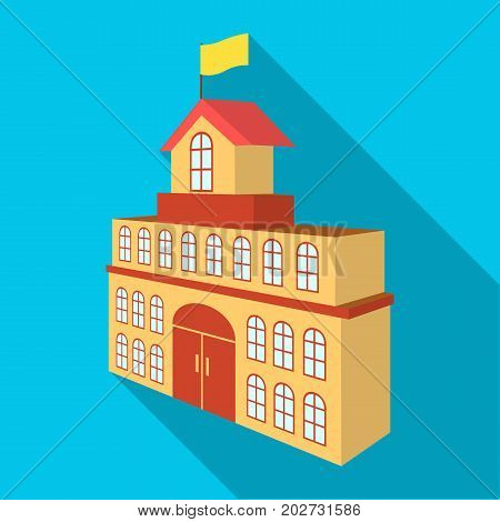 The building of the town hall. City Hall Building single icon in flat style vector symbol stock illustration .