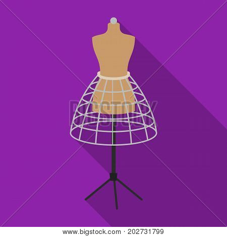 Equipment, mannequin for sewing women's clothing. Sewing and equipment single icon in flat style vector symbol stock illustration .