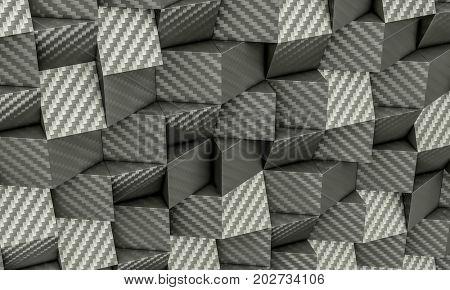 3d poly geometric background carbon fiber texture