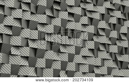 geometric carbon fiber background 3d rendering image
