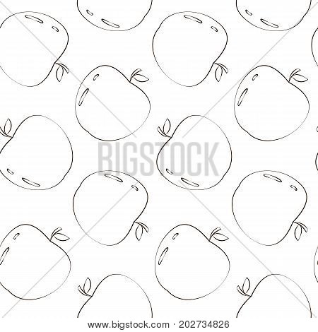 Vector seamless pattern with apples Cute Vector Seamless Apple Pattern Seamless pattern with apples motif. Apple picking.