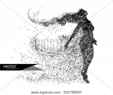 Abstract vector illustration of beautiful woman. Background and text on a separate layer.
