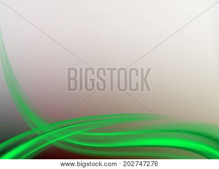 abstract light, with a smooth green curved arc, soft background