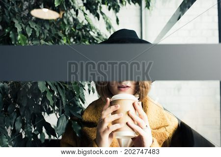 Woman With Coffee To Go