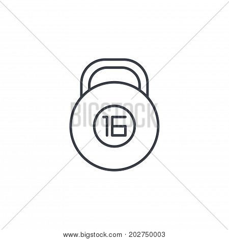 dumbbell Bob thin line icon. Linear vector illustration. Pictogram isolated on white background