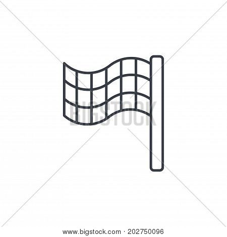 finish flag thin line icon. Linear vector illustration. Pictogram isolated on white background