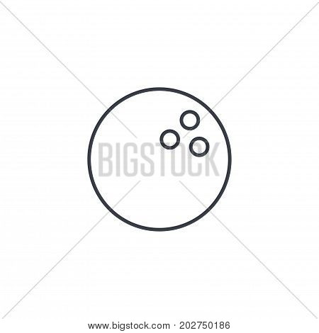 bowling ball thin line icon. Linear vector illustration. Pictogram isolated on white background